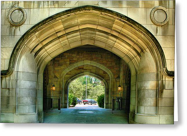 A Grand Entrance Greeting Card by Steven Ainsworth
