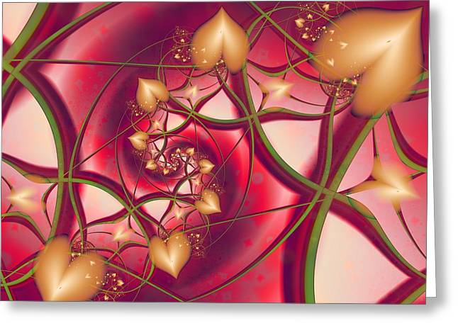 A Growing Love Greeting Card by Michelle H
