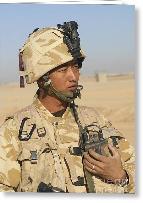 A Gurkha Commander Communicates Greeting Card