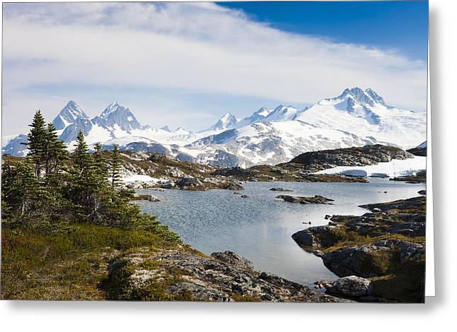 A High Alpine Lake On A Sunny Afternoon Greeting Card