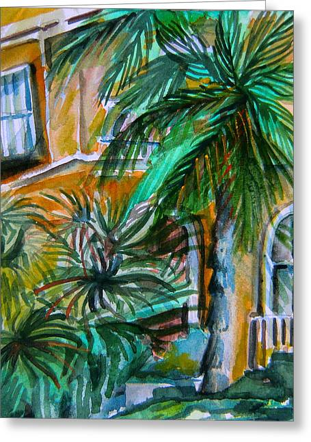 A Hotel In Sorrento Italy Greeting Card by Mindy Newman