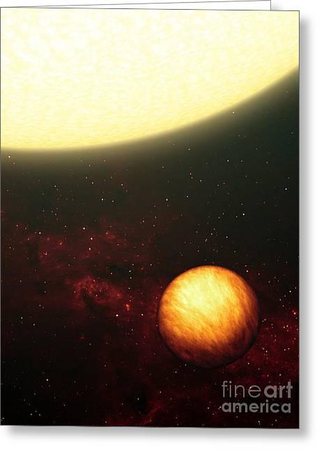 A Jupiter-like Planet Soaking Greeting Card by Stocktrek Images