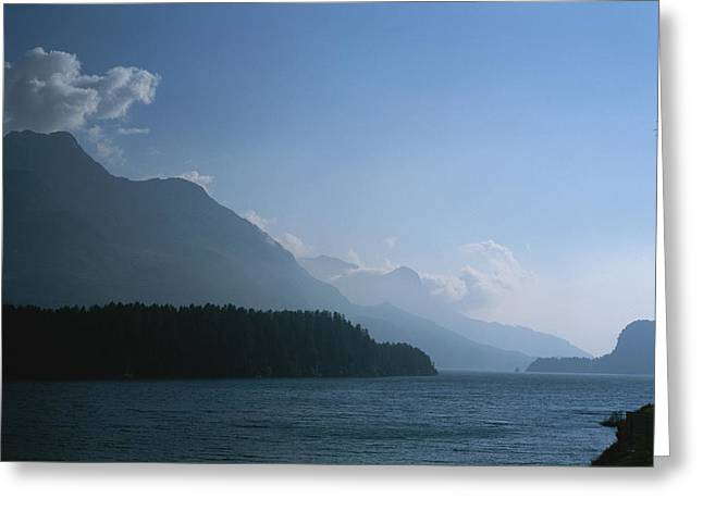 A Lake In The Engadin Valley Greeting Card by Taylor S. Kennedy