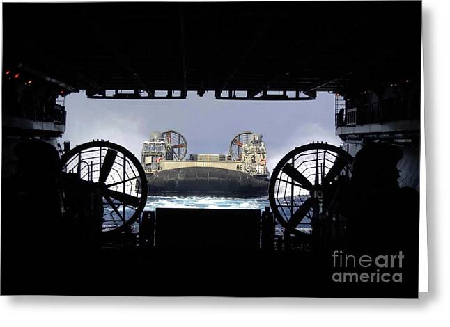 A Landing Craft Air Cushioned Returns Greeting Card by Stocktrek Images