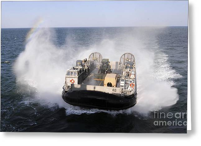A Landing Craft Utility From Assault Greeting Card by Stocktrek Images