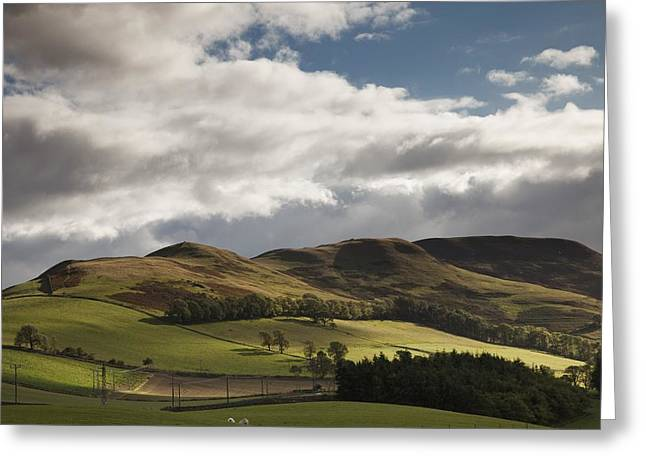 A Landscape With Rolling Hills And Greeting Card by John Short