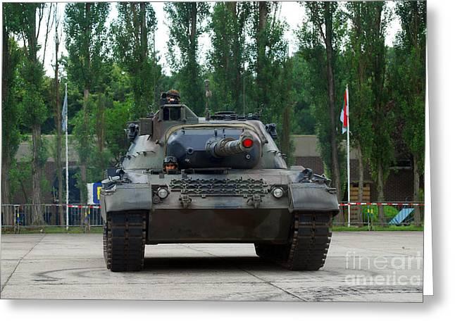 A Leopard 1a5 Mbt Of The Belgian Army Greeting Card