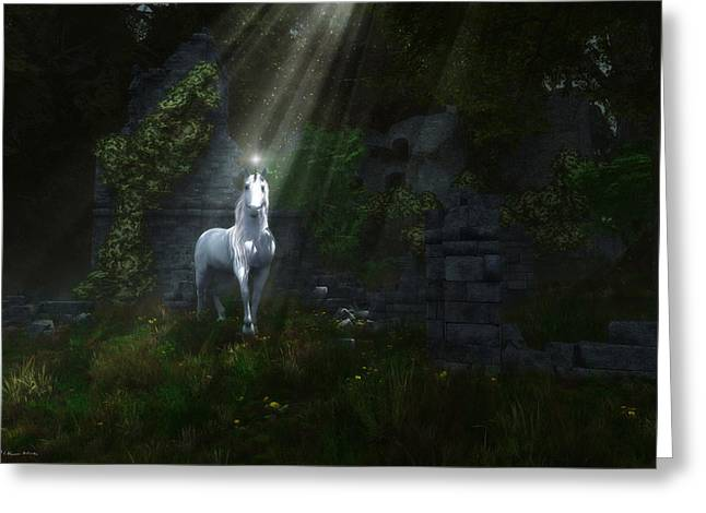 A Light In The Darkness Greeting Card by Melissa Krauss