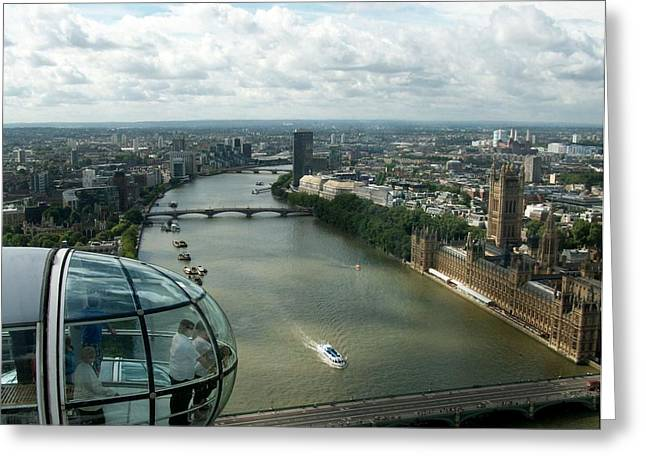 A London Eye's View Greeting Card