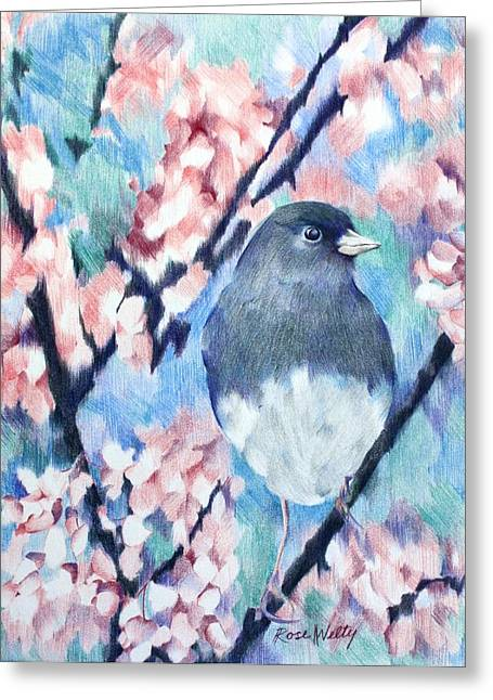 A Lovely View Greeting Card by Rose Welty