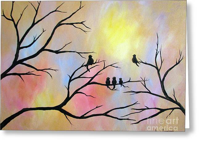 Greeting Card featuring the painting A Luminous Light by Stacey Zimmerman