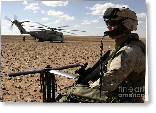 A Marine Assembles A Radio Antenna Greeting Card by Stocktrek Images
