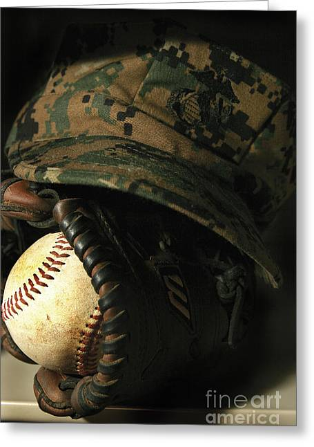 A Marines Athletic Gear Greeting Card by Stocktrek Images