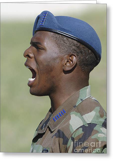 A Member Of The U.s. Air Force Academy Greeting Card by Stocktrek Images