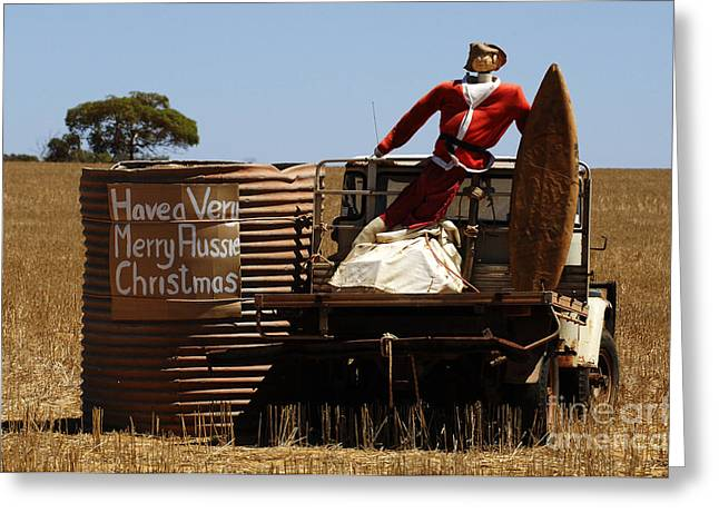 A Merry Aussie Christmas Greeting Card by Bob Christopher