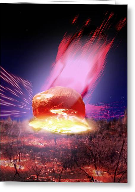 A Meteor Greeting Card