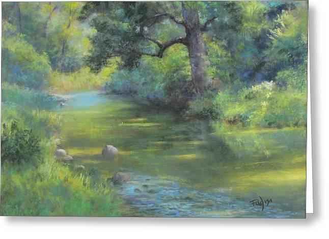 A Midsummer Day's Stream II  Greeting Card