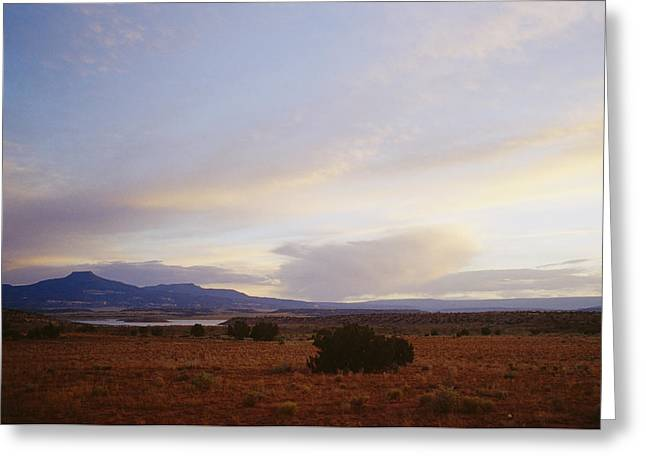 A Mountain Range In New Mexico Greeting Card