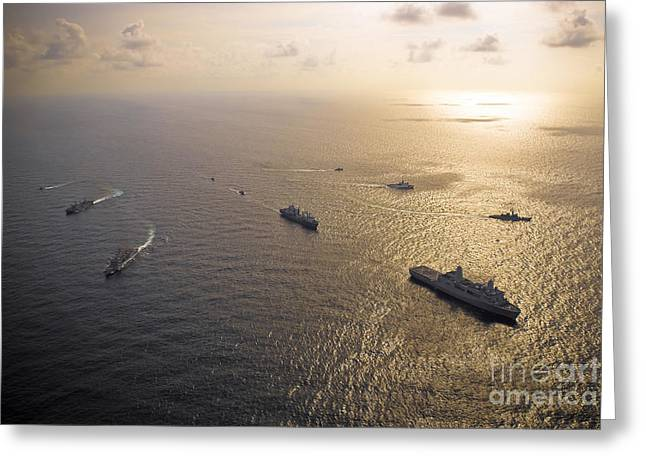 A Multi-national Naval Force Navigates Greeting Card by Stocktrek Images
