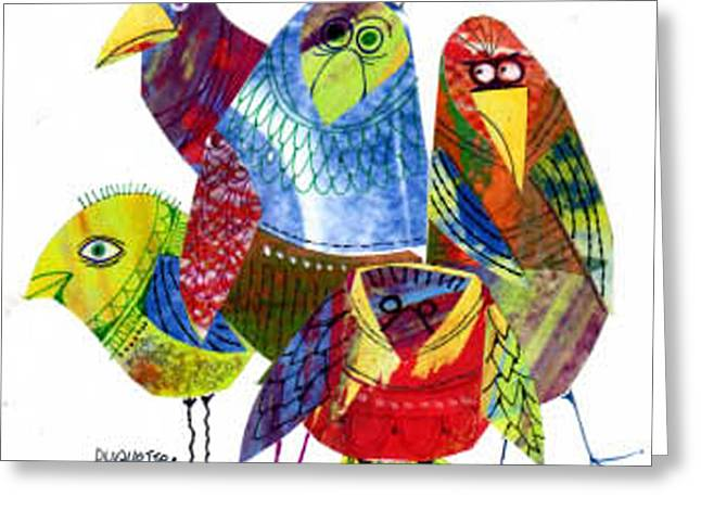 A Muster Of Mocking Birds Greeting Card by Steven Duquette