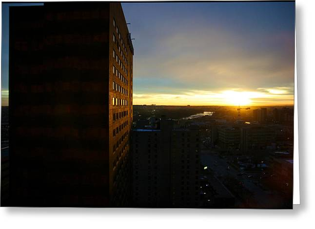 Greeting Card featuring the photograph A New Day Begins Calgary Alberta by JM Photography