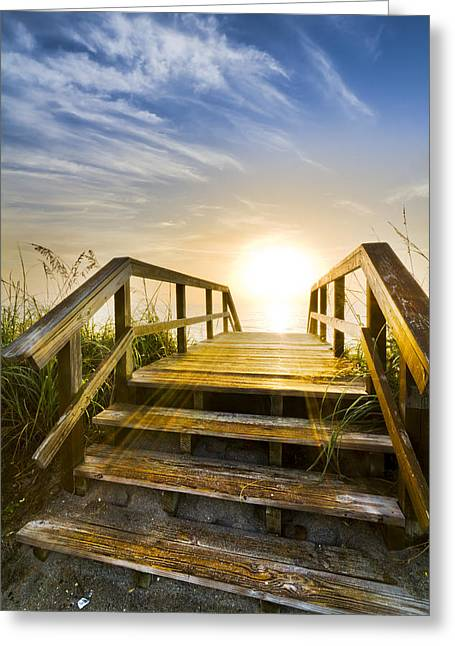A New Start Greeting Card by Debra and Dave Vanderlaan