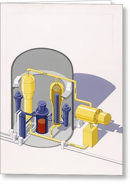 A Painting Of An Improved Reactor Greeting Card