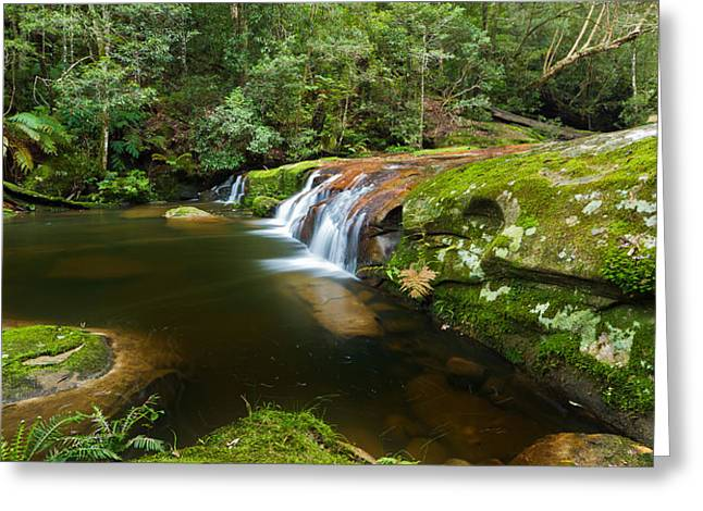 A Parallel View - Somesby Falls Greeting Card