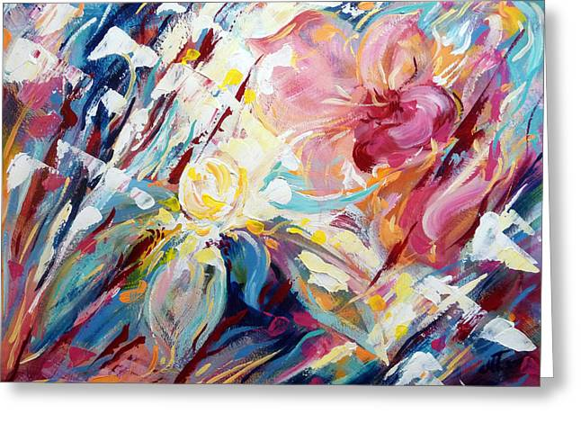 A Passion Of Flowers Greeting Card by Mikko Tyllinen
