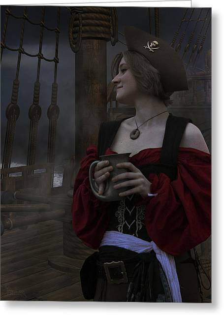 A Pirates Life For Me Greeting Card by Lisa Wingo