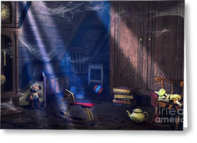 A Place Of Memories Greeting Card by Jutta Maria Pusl