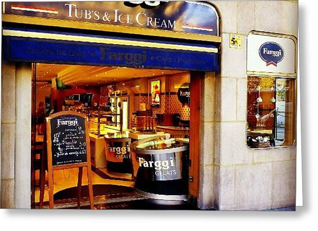 A Place To Enjoy Ice Cream #food #travel Greeting Card