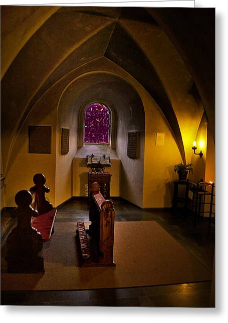 A Place To Pray Greeting Card by Rick Bragan