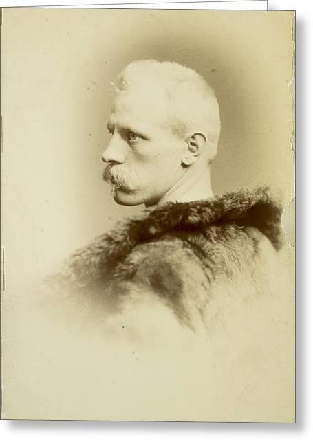 A Portrait Of Fridtjof Nansen Greeting Card by Henry Van Der Weyde