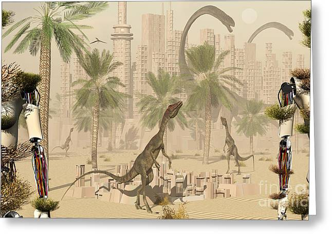 A Prehistoric City Now Void Of Any Life Greeting Card by Mark Stevenson