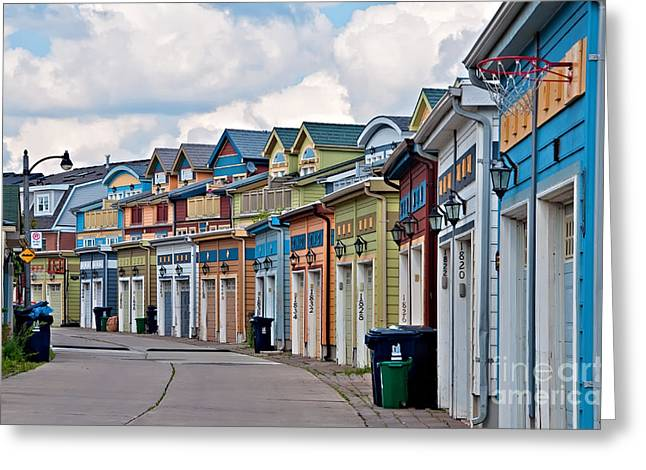 A Pretty Street In The Beach Greeting Card