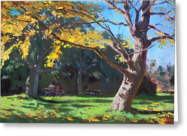 A Quiet Fall Afternoon Greeting Card