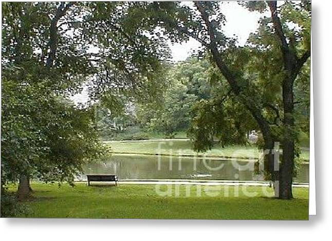A Quiet Place Greeting Card by Vonda Lawson-Rosa