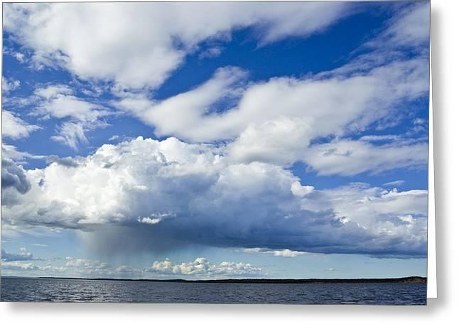 A Rain Storm Pours Greeting Card by Jason Edwards