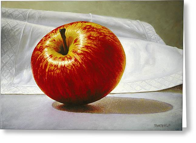A Red Apple Greeting Card