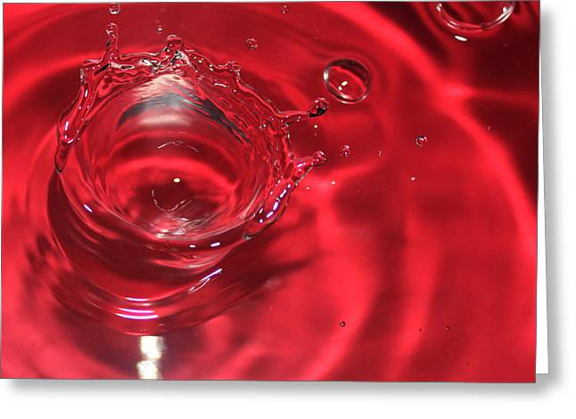 A Red Splash Of Water Greeting Card