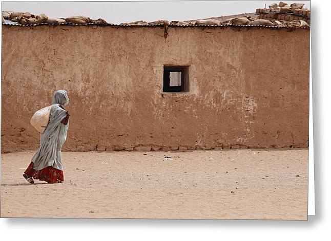 A Refugee From Western Sahara Leaves Greeting Card by Steve Raymer