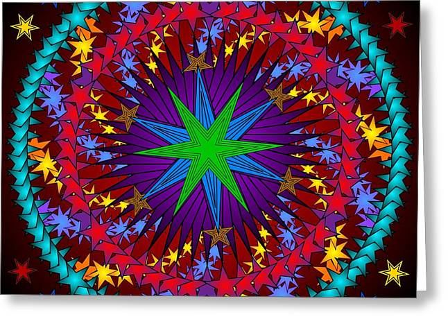 Greeting Card featuring the digital art A Riot Of Stars by Mario Carini