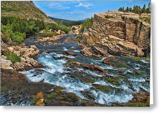 A River Runs Through It Greeting Card by Lanis Rossi