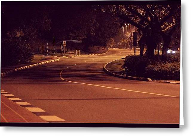 A Road To No Where, Lonely And Empty Greeting Card
