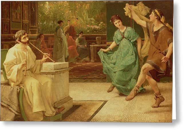 A Roman Dance Greeting Card