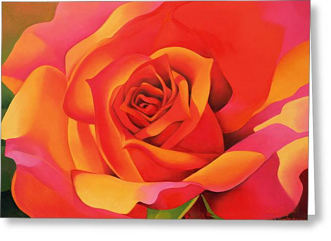 A Rose - Transformation Into The Sun Greeting Card by Myung-Bo Sim
