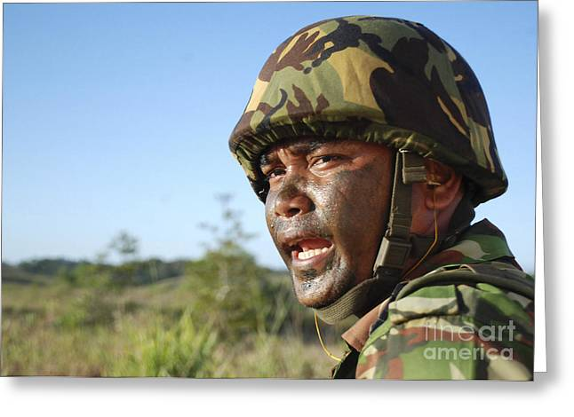 A Royal Brunei Land Force Soldier Greeting Card by Stocktrek Images