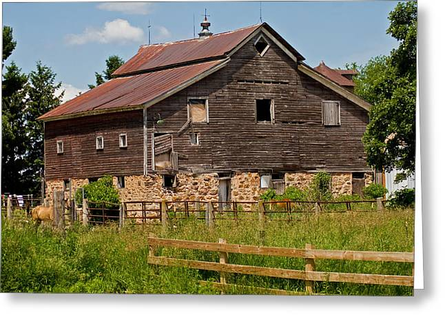 A Rustic Barn Greeting Card by Wayne Stabnaw