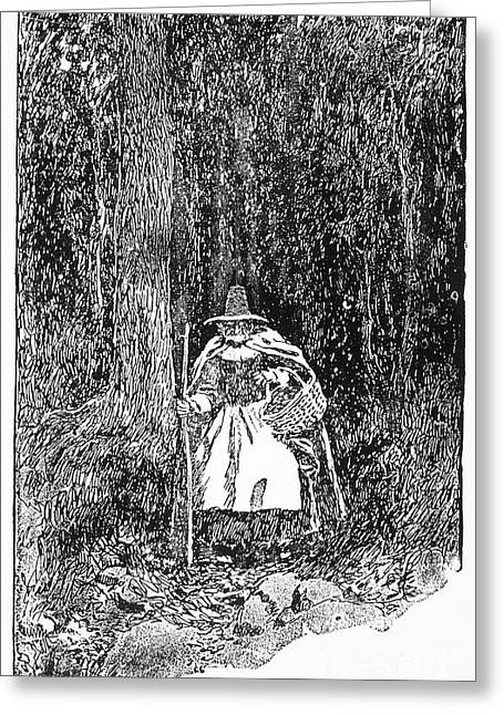 A Salem Witch, 1692 Greeting Card by Granger